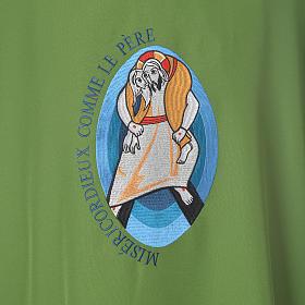 STOCK Dalmatique Jubilé Pape François FRANÇAIS polyester brodé machine s7