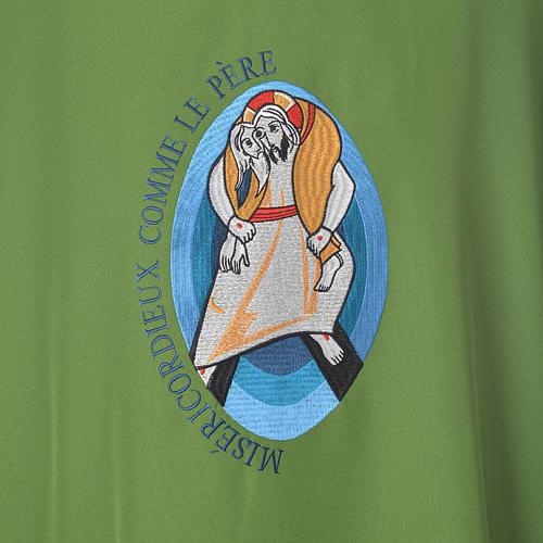 STOCK Dalmatique Jubilé Pape François FRANÇAIS polyester brodé machine 7