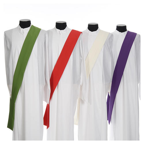 Deacon Dalmatic in polyester, single color 7