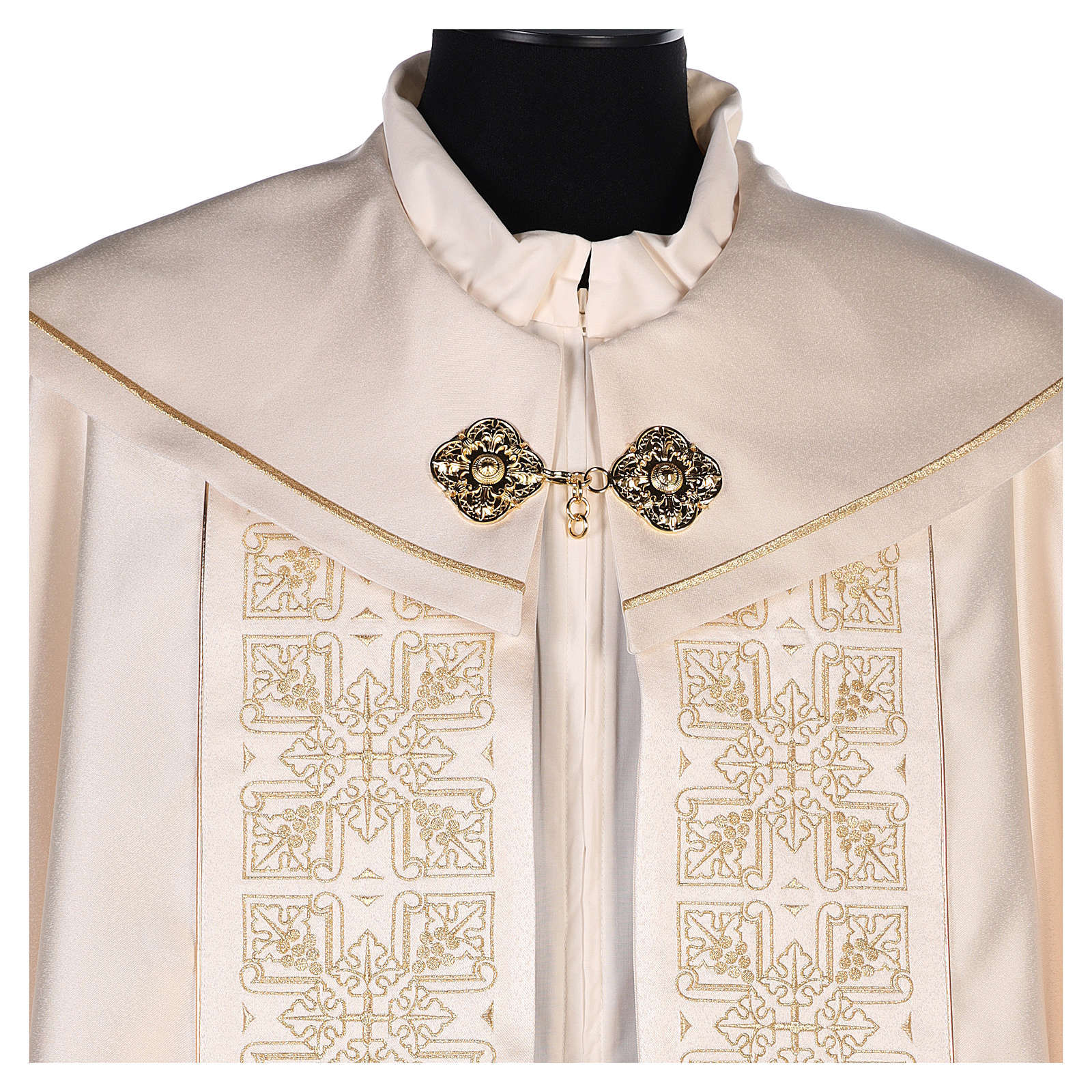 Cope in 80% cream polyester with gold embroidery 4