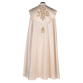 Cope in 80% cream polyester with gold embroidery s3