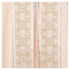 Cope in 80% cream polyester with gold embroidery s4