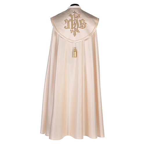 Cope in 80% cream polyester with gold embroidery 3