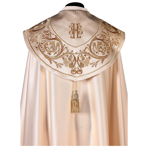Cope in 80% cream polyester with gold embroideries 2