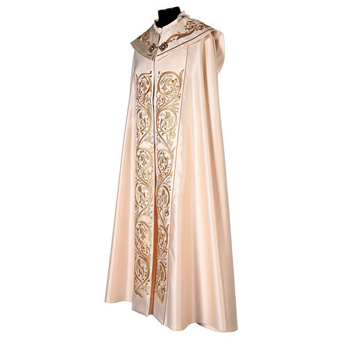 Cope in 80% cream polyester with gold embroideries 5