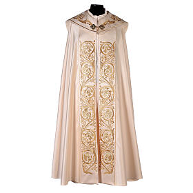 Cope in 80% cream polyester with gold embroideries s1