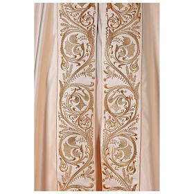 Cope in 80% cream polyester with gold embroideries s3