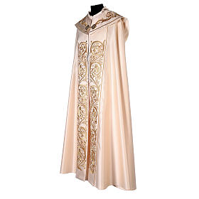Cope in 80% cream polyester with gold embroideries s5