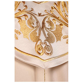 Cope in 80% cream polyester with gold embroideries s6