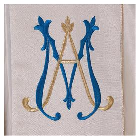 Chape liturgique 80% polyester crème Vierge à l'enfant s5