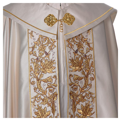 Cope in 80% polyester with chalice, host, grapes and ears of wheat 5