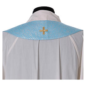 Cope in 80% sky blue polyester with initials of Mary s9