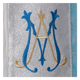 Piviale 80% poliestere celeste iniziali Santissimo nome di Maria s4