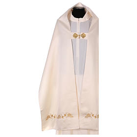 Humeral veil with gold embroidery with JHS and crowns s3