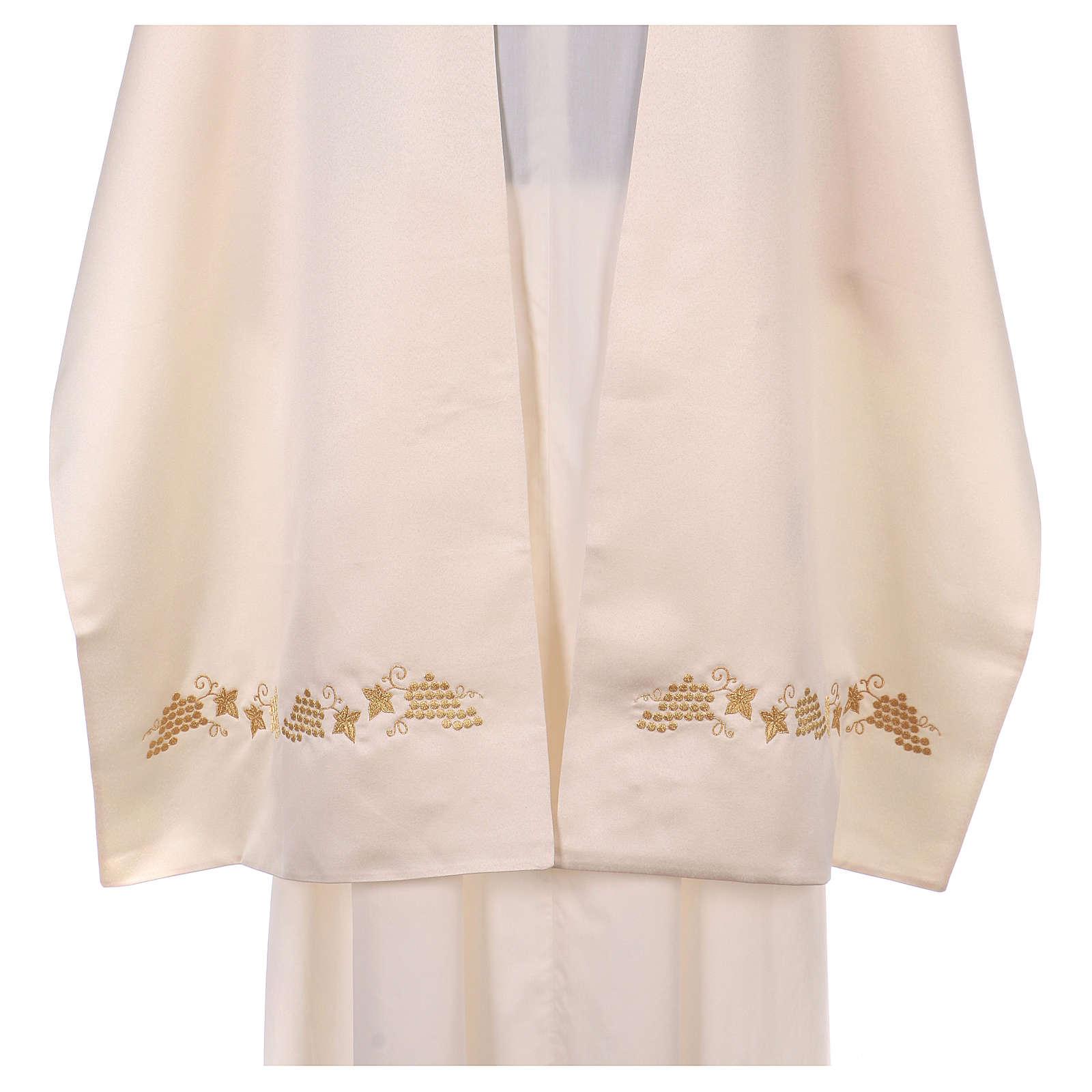 Véu umeral bordado dourado IHS com coroas 4
