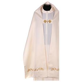 Véu umeral bordado dourado IHS com coroas s3