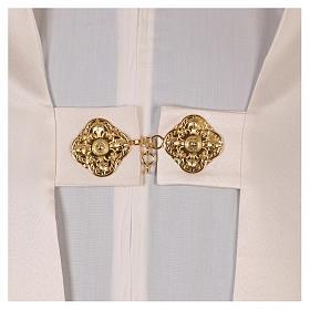 Véu umeral bordado dourado IHS com coroas s4
