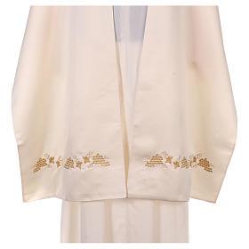 Véu umeral bordado dourado IHS com coroas s5