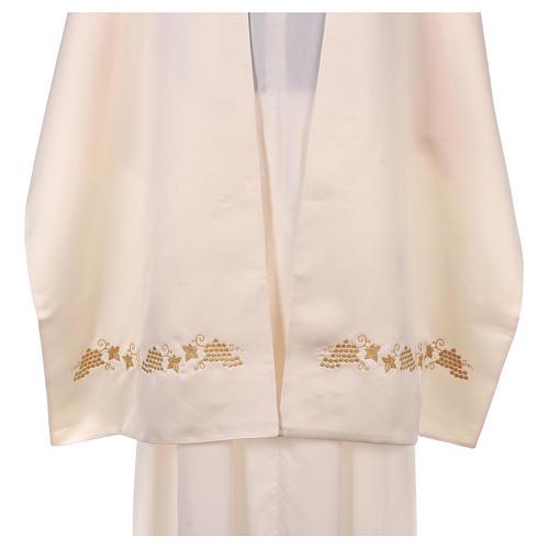 Véu umeral bordado dourado IHS com coroas 5