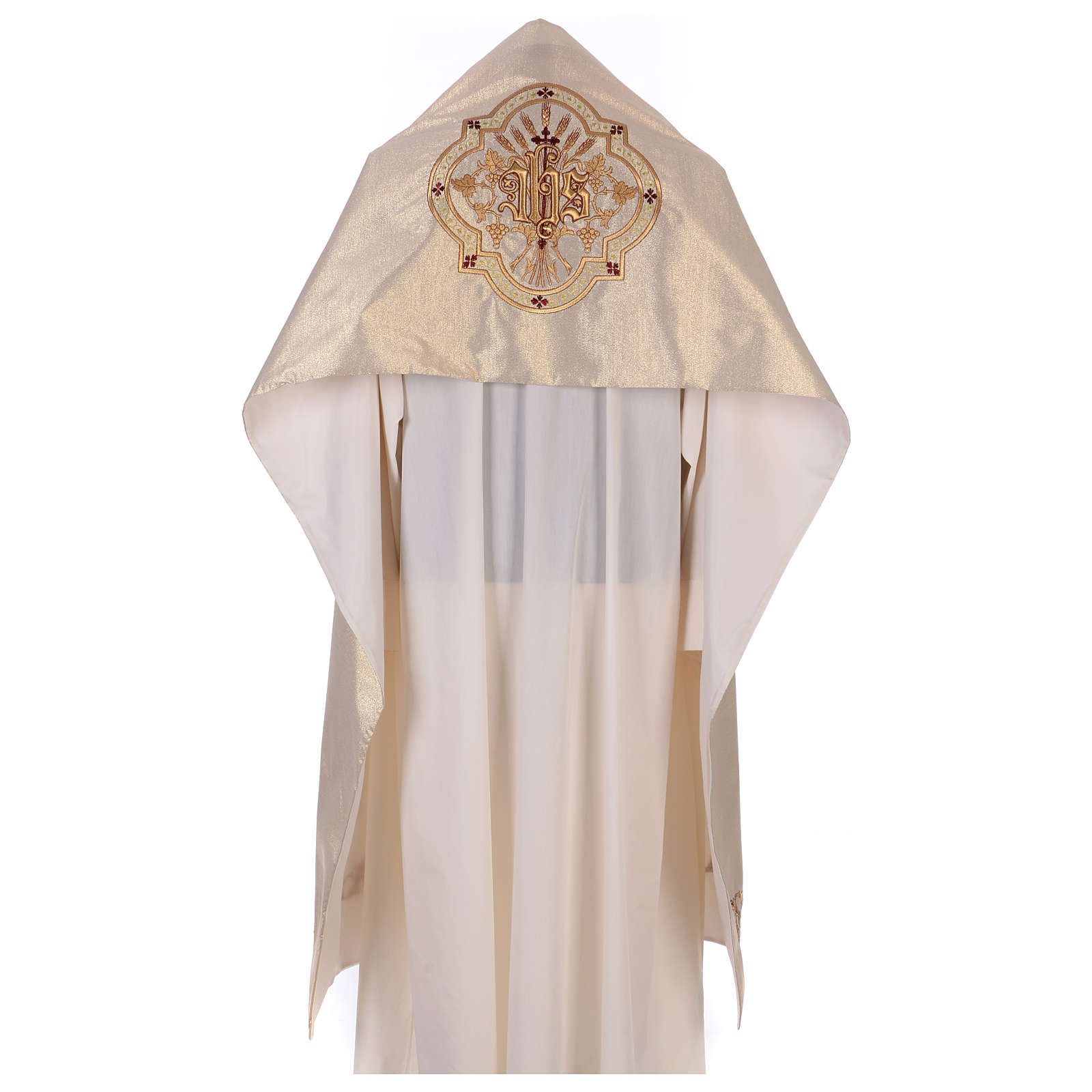Humeral veil ecru IHS embroidery 100% polyester 4