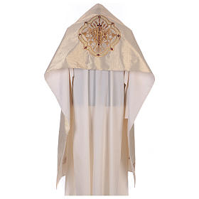 Humeral veil ecru IHS embroidery 100% polyester s1