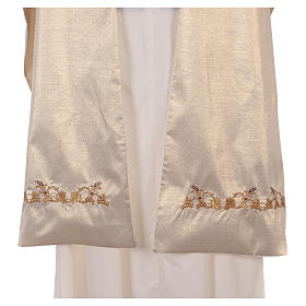 Humeral veil ecru IHS embroidery 100% polyester s5