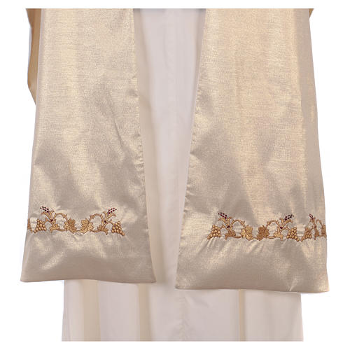 Humeral veil ecru IHS embroidery 100% polyester 5