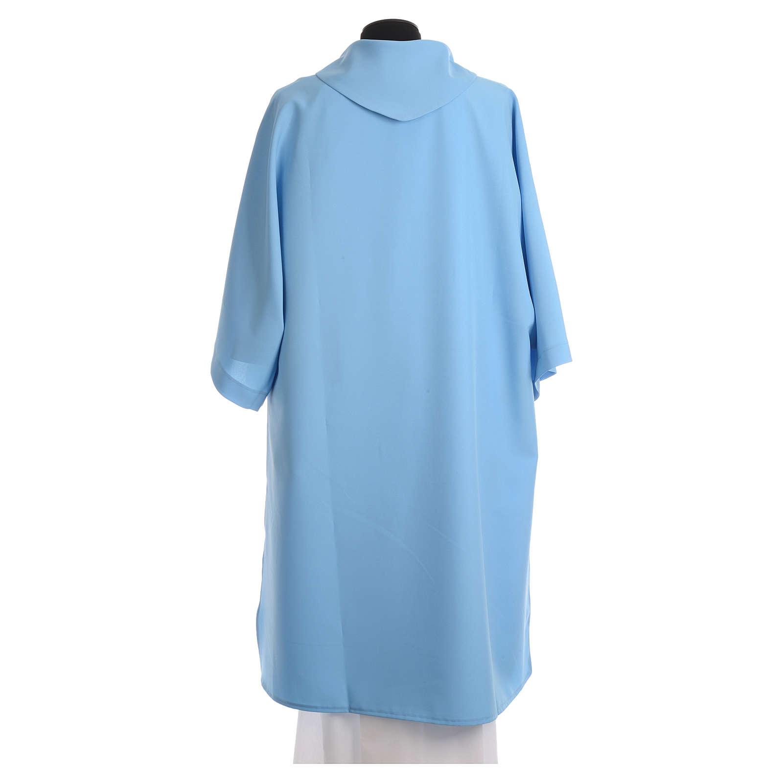 Dalmatik aus hellblauen Polyester 4