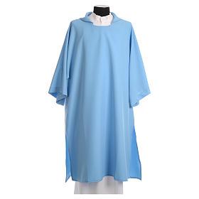 Dalmatik aus hellblauen Polyester s1