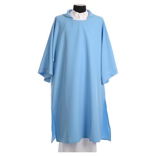 Dalmatik aus hellblauen Polyester 1