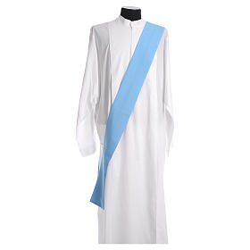 Dalmatic in polyester, light blue s4