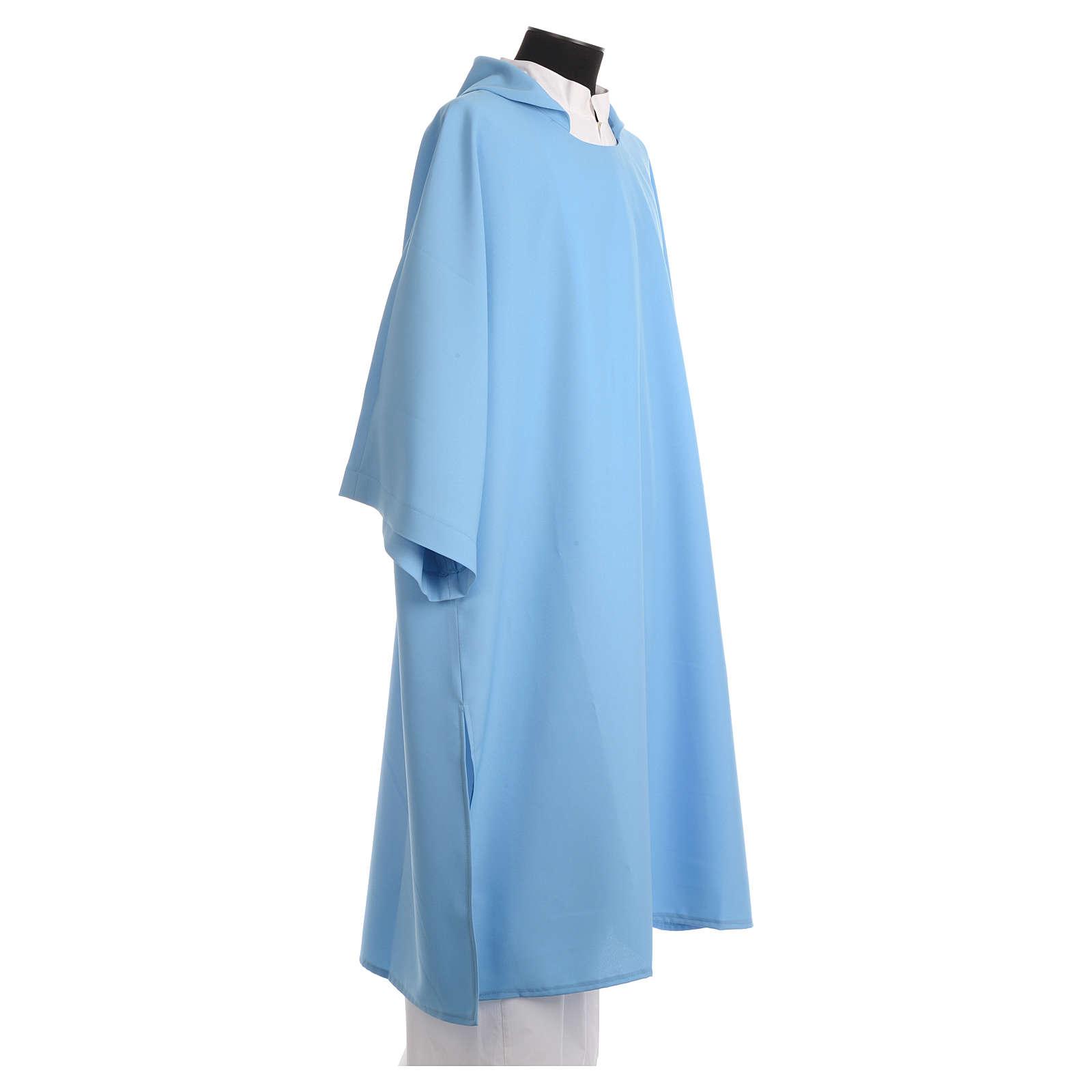 Dalmatique polyester bleu 4