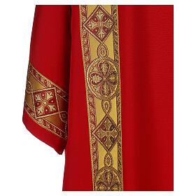 Dalmatica gallone applicato davanti tessuto Vatican 100% poliestere