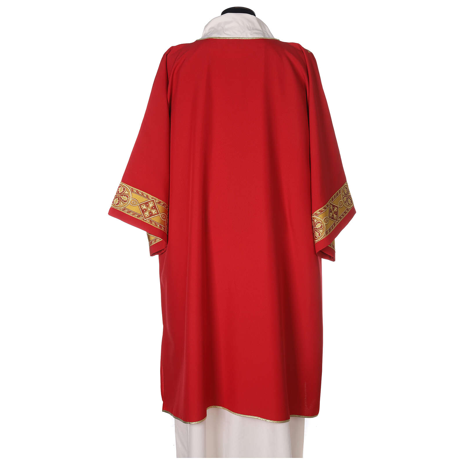 Deacon Dalmatic in polyester with gallon applied on the front, Vatican fabric 4