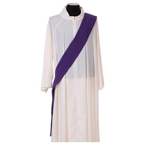 Dalmatique bande appliquée avant tissu Vatican 100% polyester 5