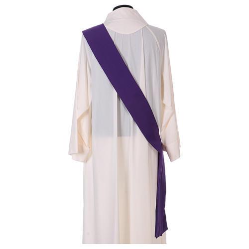 Dalmatica gallone applicato solo davanti tessuto Vatican 100% poliestere 6