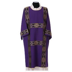 Dalmatyka aplikacja galonu z przodu tkanina Vatican 100% poliester s1