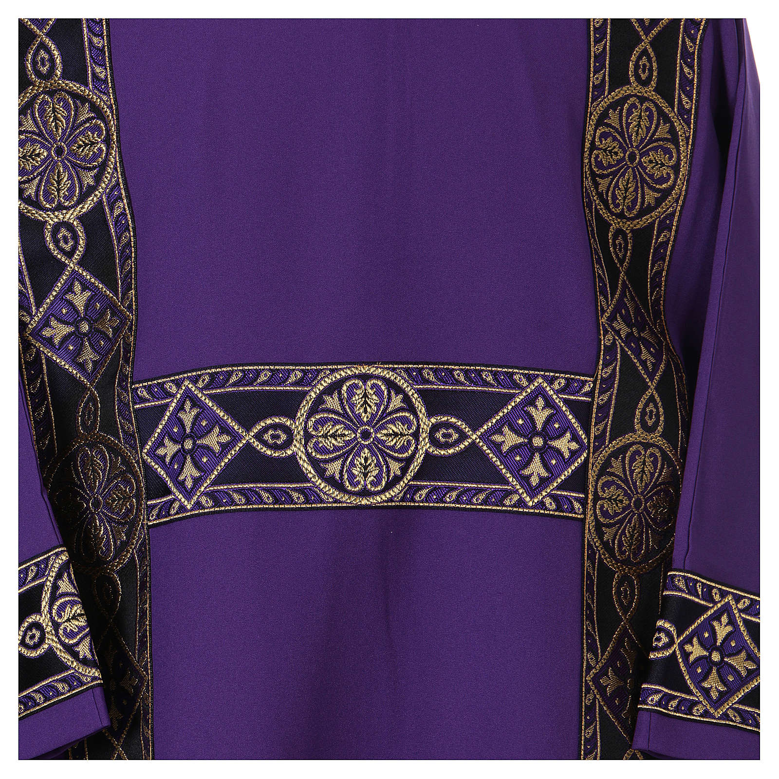 Deacon Dalmatic with decoration trim on front, Vatican fabric 100% polyester 4
