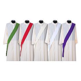 Dalmatica tessuto 100% poliestere Vatican gallone applicato fronte s8