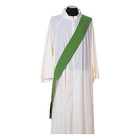 Dalmatica tessuto 100% poliestere Vatican gallone applicato fronte s9