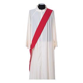 Dalmatica tessuto 100% poliestere Vatican gallone applicato fronte s10