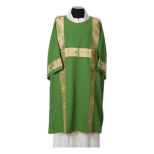 Dalmatica tessuto 100% poliestere Vatican gallone applicato fronte 3