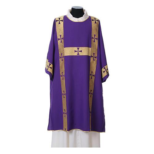 Dalmatica tessuto 100% poliestere Vatican gallone applicato fronte 7