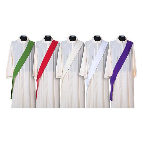 Dalmatica tessuto 100% poliestere Vatican gallone applicato fronte 8