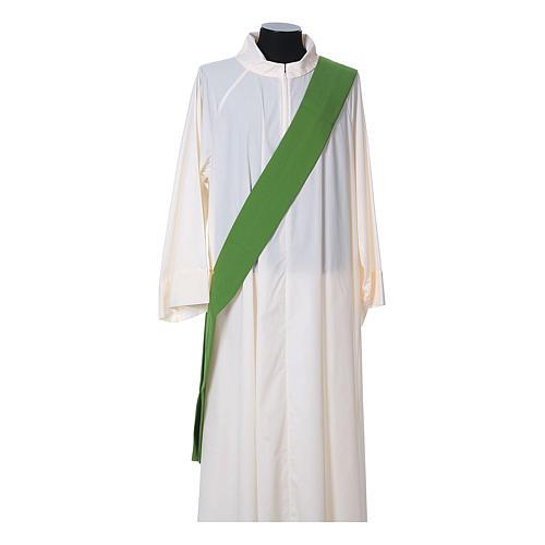 Dalmatica tessuto 100% poliestere Vatican gallone applicato fronte 9