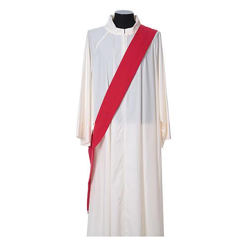 Dalmatica tessuto 100% poliestere Vatican gallone applicato fronte 10