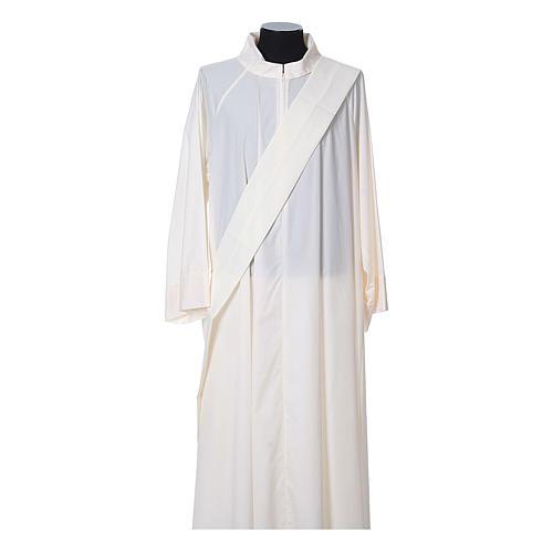 Dalmatica tessuto 100% poliestere Vatican gallone applicato fronte 11