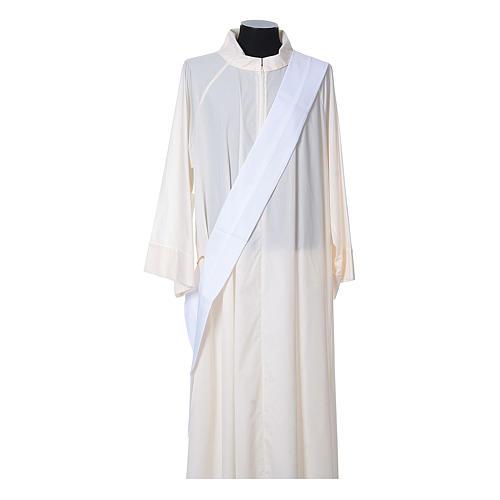 Dalmatica tessuto 100% poliestere Vatican gallone applicato fronte 12