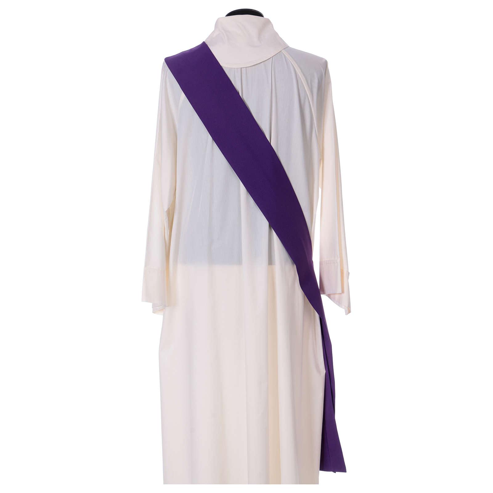 Dalmática entorchado aplicado parte anterior posterior tejido 100% poliéster Vatican 4