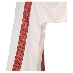 Dalmatica gallone applicato fronte retro tessuto 100% poliestere Vatican s4